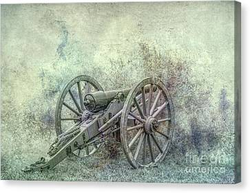 Silent Cannon Field Of Fire Canvas Print by Randy Steele