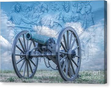Silent Cannon Gettysburg Version 2 Canvas Print by Randy Steele