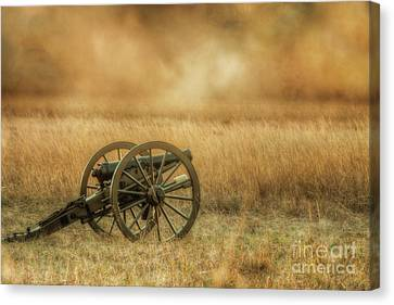 Silent Cannons At Gettysburg Canvas Print