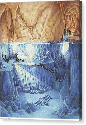 Cavern Canvas Print - Silent Echoes by Amy S Turner