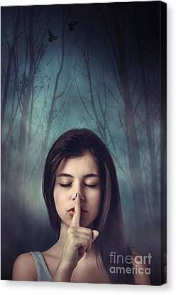 Silent Forest Canvas Print by Carlos Caetano