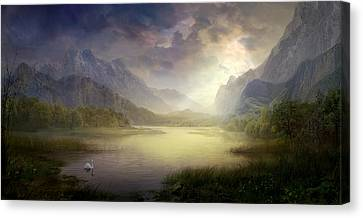 Silent Morning Canvas Print by Philip Straub