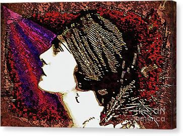 Silent Movie Star - Gloria Swanson Canvas Print by Ian Gledhill