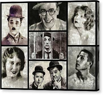 Silent Movie Stars Canvas Print by Esoterica Art Agency