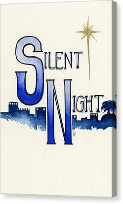 Silent Night Canvas Print by Cindy Garber Iverson