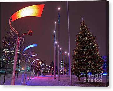 Canvas Print featuring the photograph Silent Night.. by Nina Stavlund