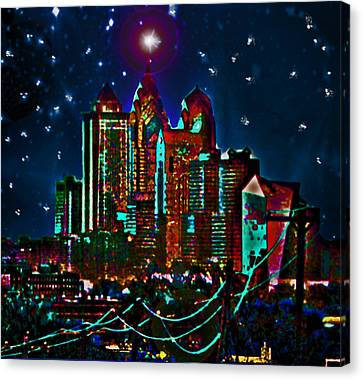 Silent Night Philly Night Canvas Print by Jonathan Shaps