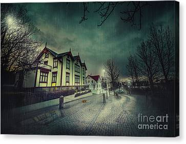 Silent Night Street Canvas Print by Svetlana Sewell