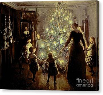 Celebrated Canvas Print - Silent Night by Viggo Johansen