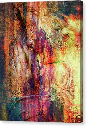 Silent Prayers Abstract Realism Canvas Print