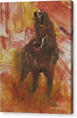 Bay Horse Canvas Print - Silent Runner by Cori Solomon