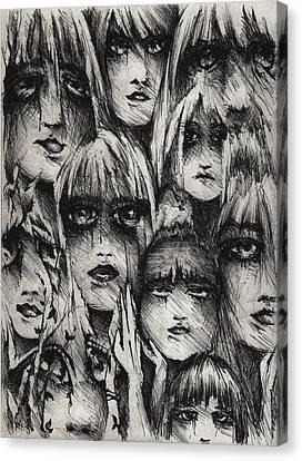 Bipolar Canvas Print - Silent Screams by Rachel Christine Nowicki