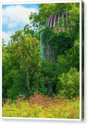 Silent Silo On Nottleson Road Canvas Print by Trey Foerster