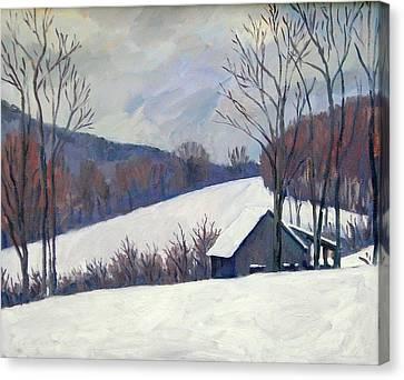 Silent Snow Berkshires Canvas Print by Thor Wickstrom