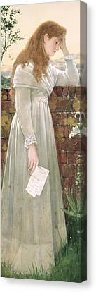 Silent Sorrow Canvas Print by Walter Langley