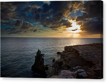 Silent Sunset Canvas Print by Patrick  Flynn