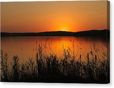 Silent Sunset Canvas Print by Penny Meyers