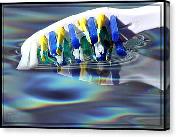 Silent Toothbrush Canvas Print