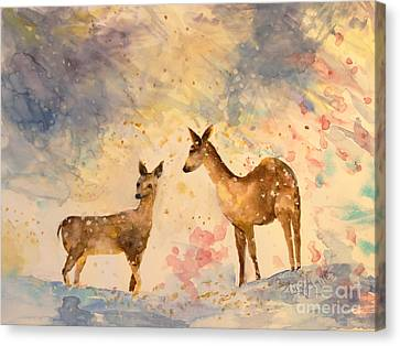 Canvas Print - Silent Visitors by Tina Sheppard