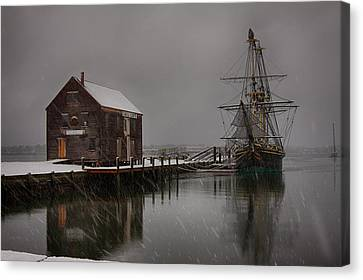 Silently The Snow Falls. Canvas Print by Jeff Folger