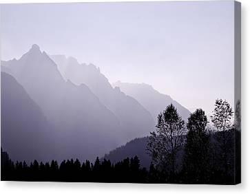 Silhouette Austria Europe Canvas Print by Sabine Jacobs