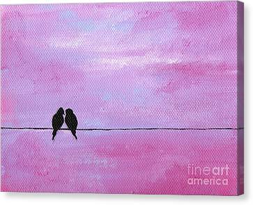 Silhouette Birds Two Canvas Print