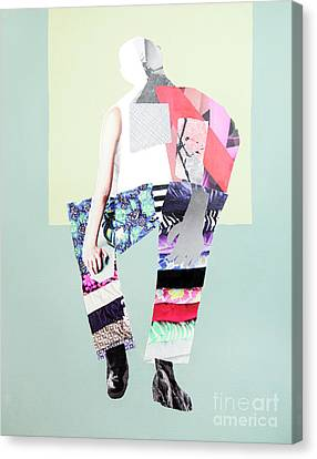 Canvas Print featuring the mixed media Silhouette by Elena Nosyreva
