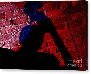 Silhouette Of A Jazz Musician 1964 Canvas Print by The Harrington Collection