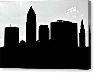 Silhouette Of The Big City Canvas Print by Frozen in Time Fine Art Photography