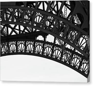 Canvas Print featuring the photograph Silhouette - Paris, France by Melanie Alexandra Price