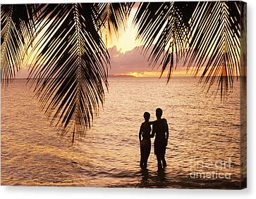 Silhouetted Couple Canvas Print by Larry Dale Gordon - Printscapes