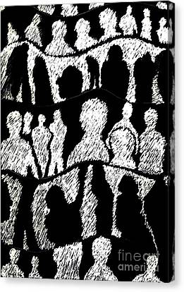 Silhouettes 2 Canvas Print by Helena Tiainen