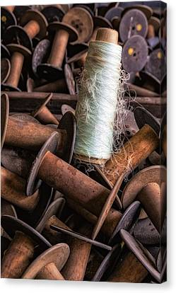 Silk Thread Spools Canvas Print by Susan Candelario