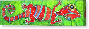 Silky Gecko Canvas Print by Kelly     ZumBerge