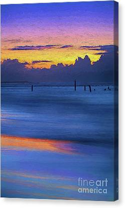 Silky Sunrise Reflections Outer Banks Ap Canvas Print by Dan Carmichael