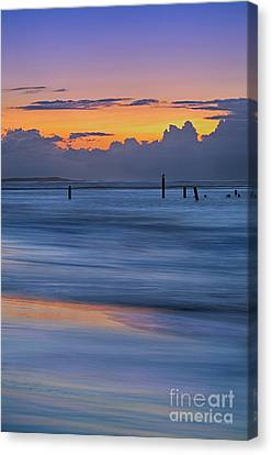 Silky Sunrise Reflections Outer Banks Canvas Print by Dan Carmichael