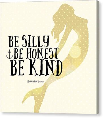Silly Honest Kind Mermaid V4 Canvas Print by Brandi Fitzgerald