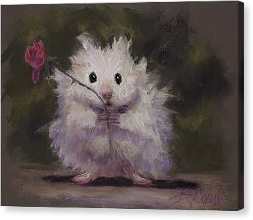 Gerbil Canvas Print - Silly Me by Billie Colson