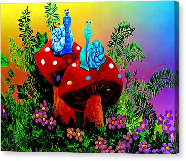 Silly Snails Canvas Print