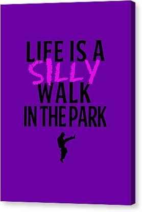 Silly Walk Canvas Print by Gazz Wood