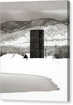 Silo And Silence Canvas Print by Marilyn Hunt