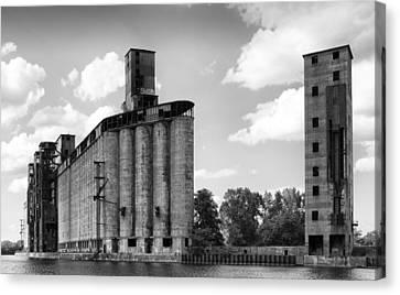 Buffalo New York Canvas Print - Silo City 3 by Peter Chilelli