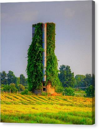 Silo Canvas Print by Robert Pearson