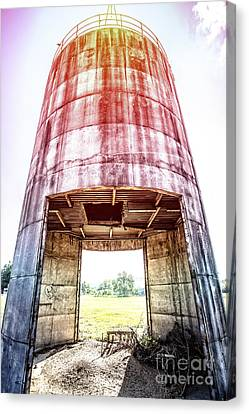 Sunflare Canvas Print - Silo Sunflare by Edward Fielding