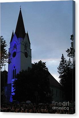 Silute Lutheran Evangelic Church Lithuania 01 Canvas Print by Ausra Huntington nee Paulauskaite