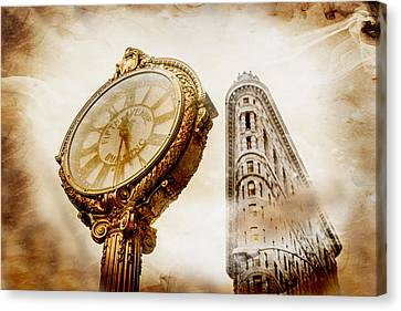 Sepia Tone Canvas Print - Silver And Gold by Az Jackson