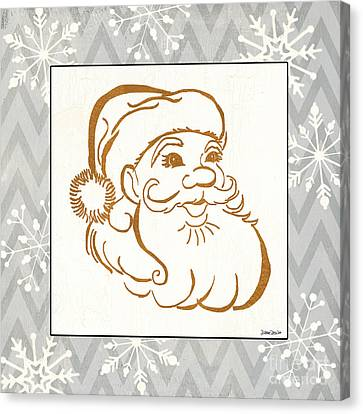 Celebrate Canvas Print - Silver And Gold Santa by Debbie DeWitt