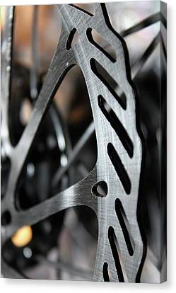 Silver Brake Canvas Print by Angie Wingerd
