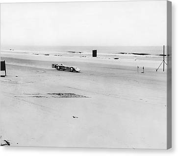 Silver Bullet At Daytona Canvas Print by Underwood Archives