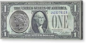 Silver Certificate  Canvas Print by JC Findley